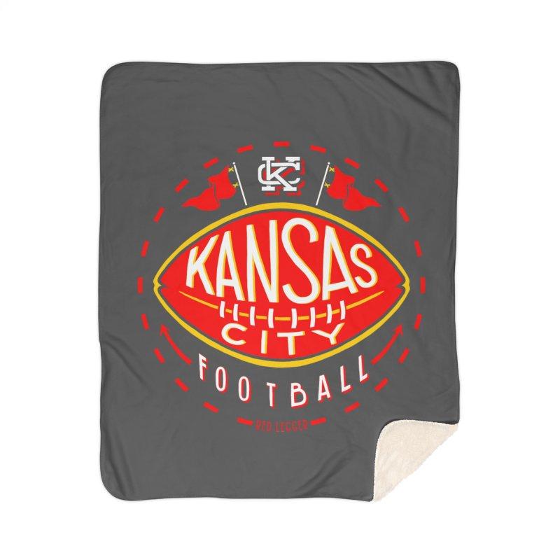 KC Football (Dark) Home Sherpa Blanket Blanket by redleggerstudio's Shop