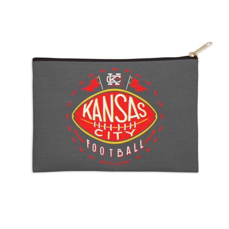 KC Football (Dark) Accessories Zip Pouch by redleggerstudio's Shop