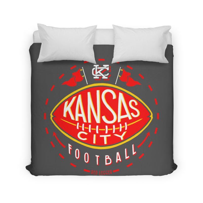 KC Football (Dark) Home Duvet by redleggerstudio's Shop