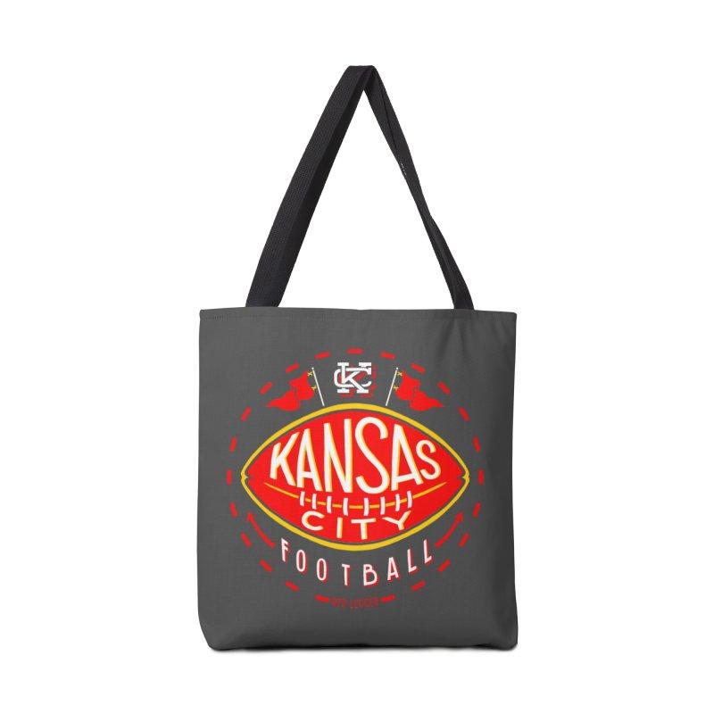 KC Football (Dark) Accessories Tote Bag Bag by redleggerstudio's Shop