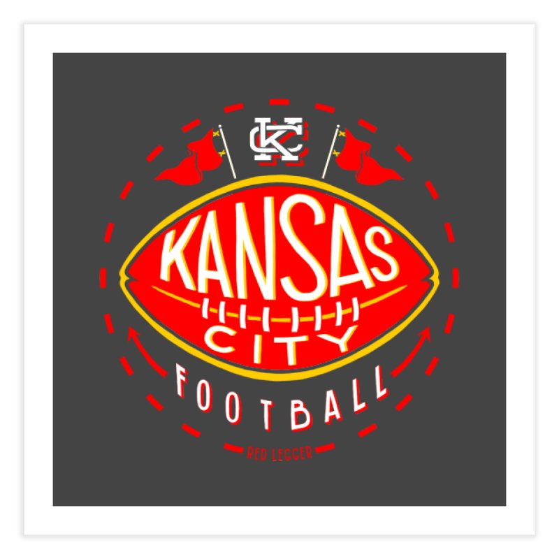 KC Football (Dark) Home Fine Art Print by redleggerstudio's Shop