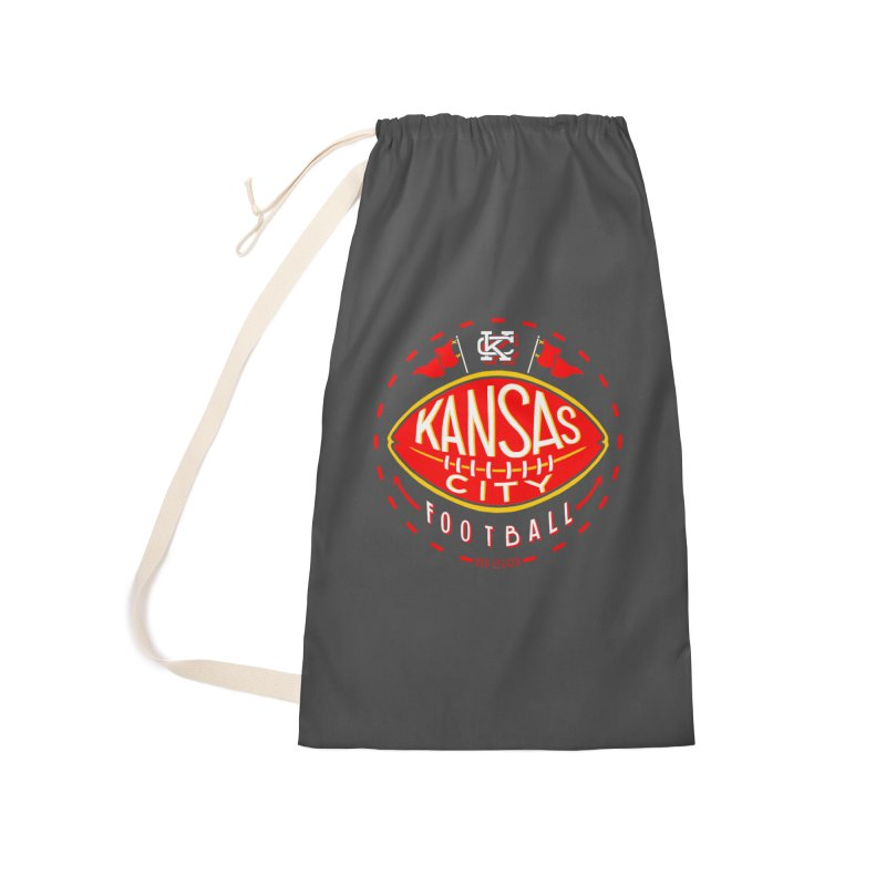 KC Football (Dark) Accessories Laundry Bag Bag by redleggerstudio's Shop