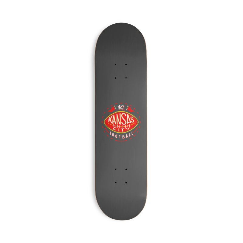 KC Football (Dark) Accessories Deck Only Skateboard by redleggerstudio's Shop
