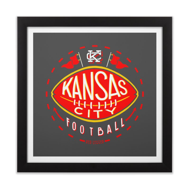 KC Football (Dark) Home Framed Fine Art Print by redleggerstudio's Shop