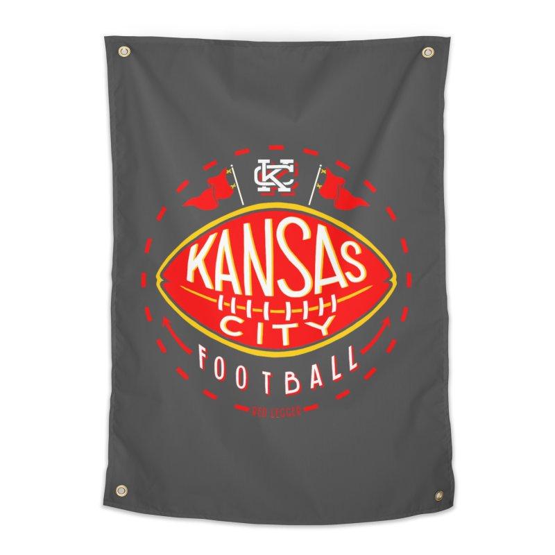 KC Football (Dark) Home Tapestry by redleggerstudio's Shop