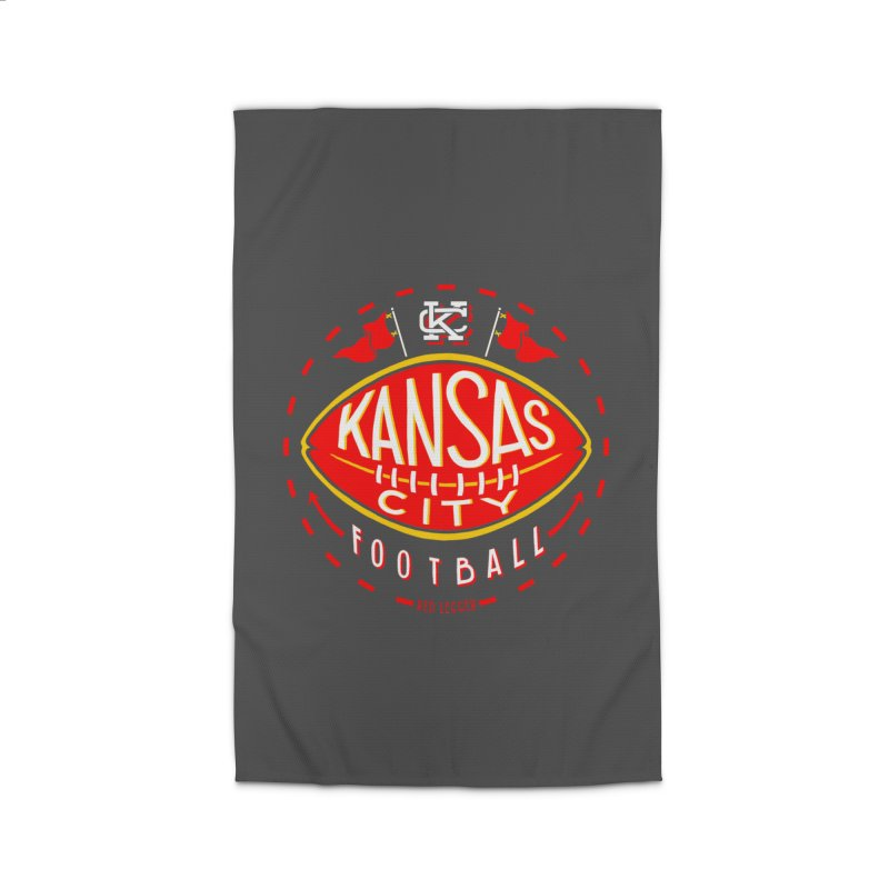 KC Football (Dark) Home Rug by redleggerstudio's Shop