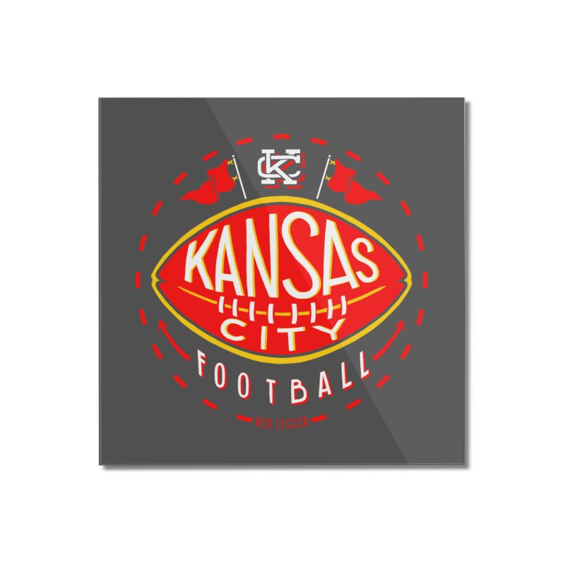 KC Football (Dark) Home Mounted Acrylic Print by redleggerstudio's Shop