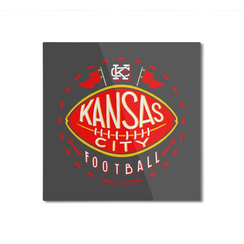 KC Football (Dark) Home Mounted Aluminum Print by redleggerstudio's Shop