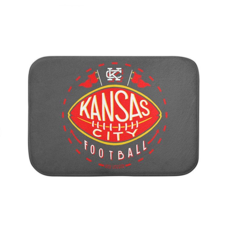 KC Football (Dark) Home Bath Mat by redleggerstudio's Shop