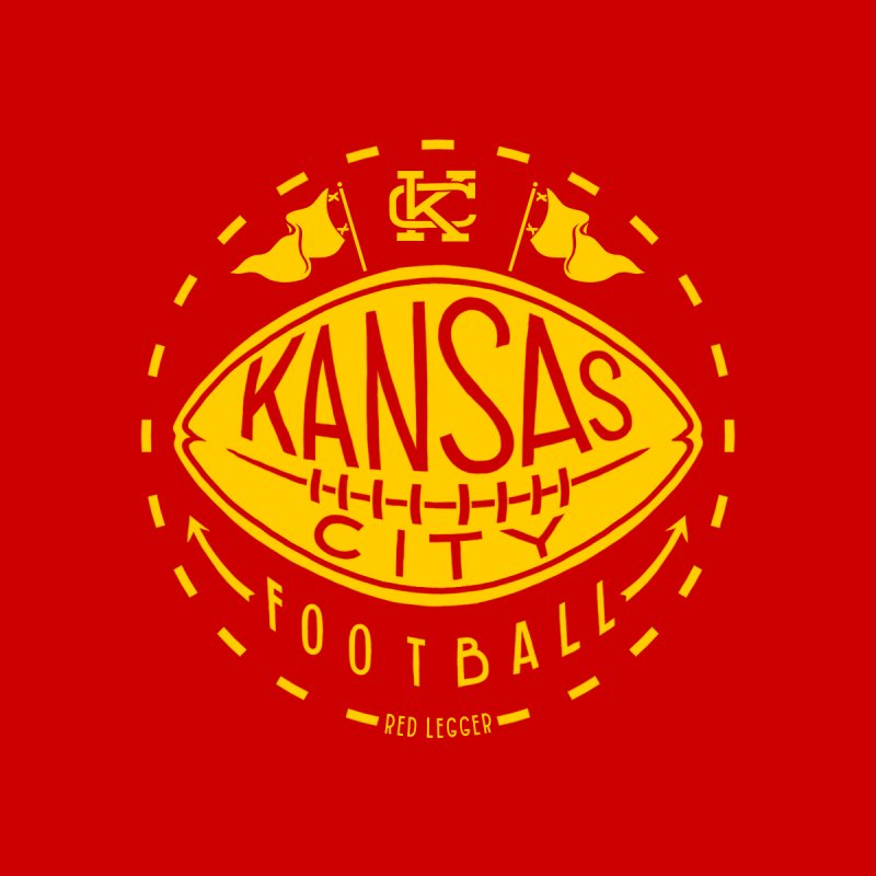 KC Football (Yellow) Kids T-Shirt by redleggerstudio's Shop