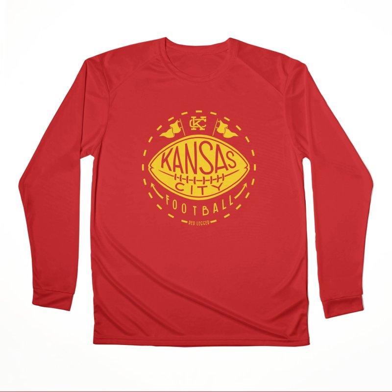 KC Football (Yellow) Women's Performance Unisex Longsleeve T-Shirt by redleggerstudio's Shop