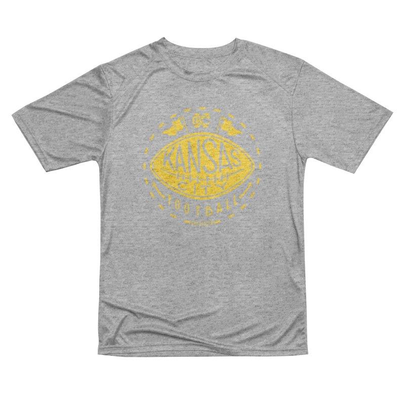 KC Football (Yellow) Women's Performance Unisex T-Shirt by redleggerstudio's Shop