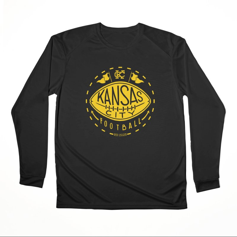 KC Football (Yellow) Women's Performance Unisex Longsleeve T-Shirt by redleggerstudio's Shop