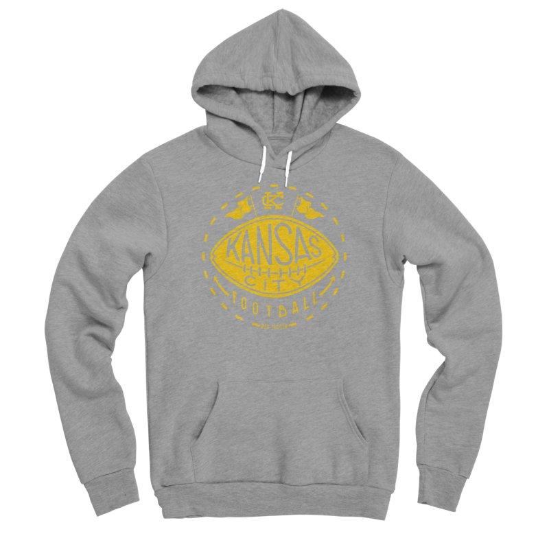 KC Football (Yellow) Men's Sponge Fleece Pullover Hoody by redleggerstudio's Shop