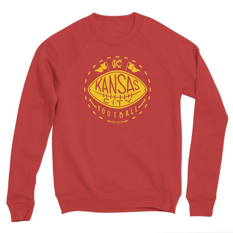 KC Football (Yellow) Men's Sponge Fleece Sweatshirt by redleggerstudio's Shop