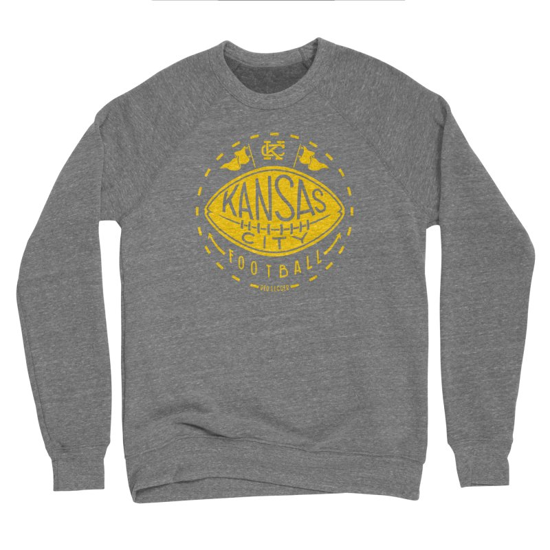 KC Football (Yellow) Women's Sponge Fleece Sweatshirt by redleggerstudio's Shop