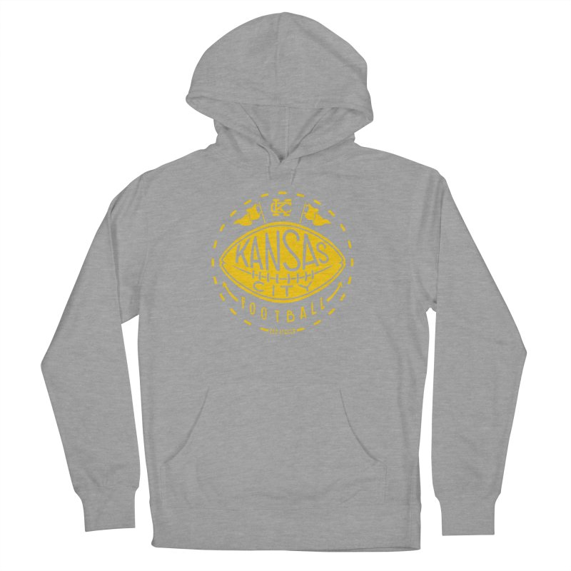 KC Football (Yellow) Men's French Terry Pullover Hoody by redleggerstudio's Shop