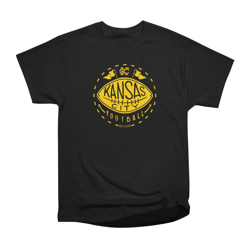 KC Football (Yellow) Men's Heavyweight T-Shirt by redleggerstudio's Shop