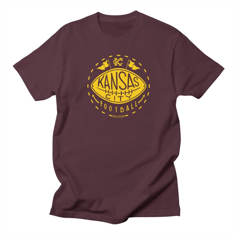 KC Football (Yellow) Men's Regular T-Shirt by redleggerstudio's Shop