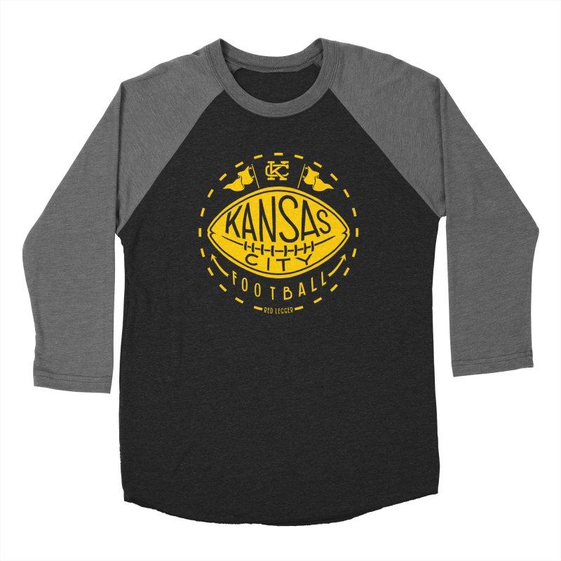 KC Football (Yellow) Women's Baseball Triblend Longsleeve T-Shirt by redleggerstudio's Shop