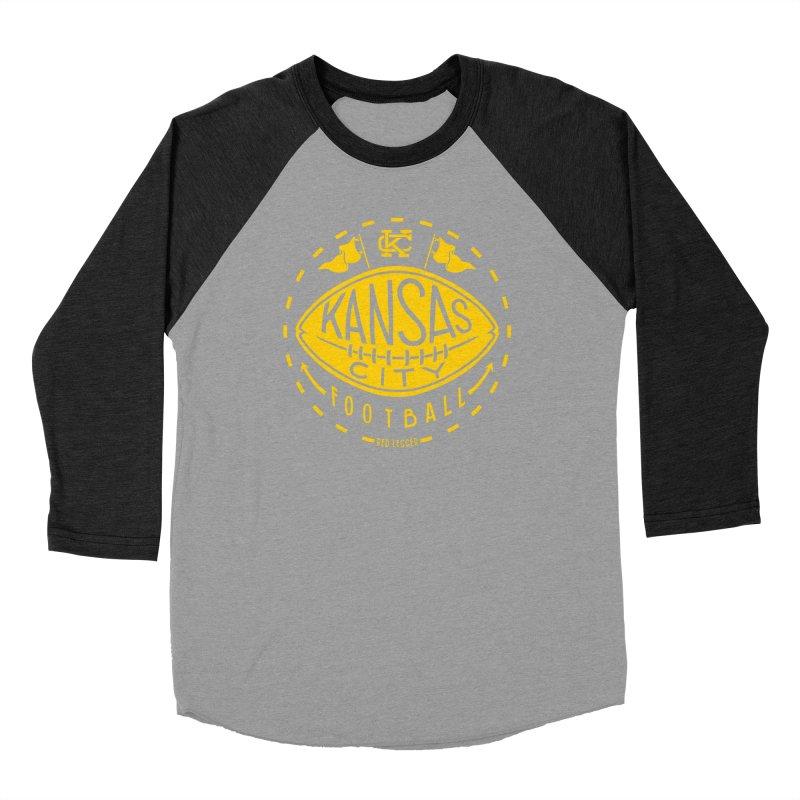 KC Football (Yellow) Men's Baseball Triblend Longsleeve T-Shirt by redleggerstudio's Shop