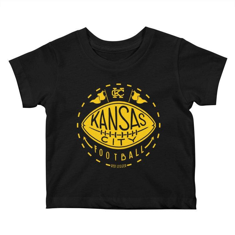 KC Football (Yellow) Kids Baby T-Shirt by redleggerstudio's Shop