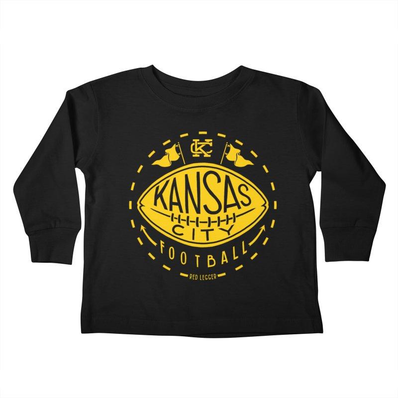 KC Football (Yellow) Kids Toddler Longsleeve T-Shirt by redleggerstudio's Shop
