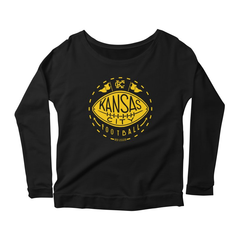 KC Football (Yellow) Women's Scoop Neck Longsleeve T-Shirt by redleggerstudio's Shop