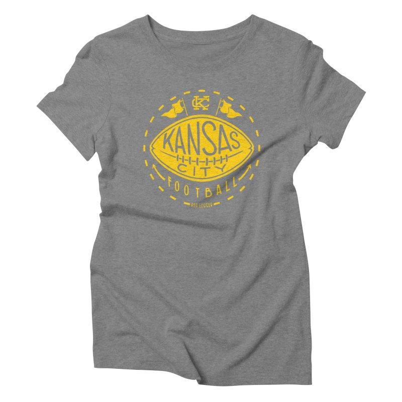 KC Football (Yellow) Women's Triblend T-Shirt by redleggerstudio's Shop