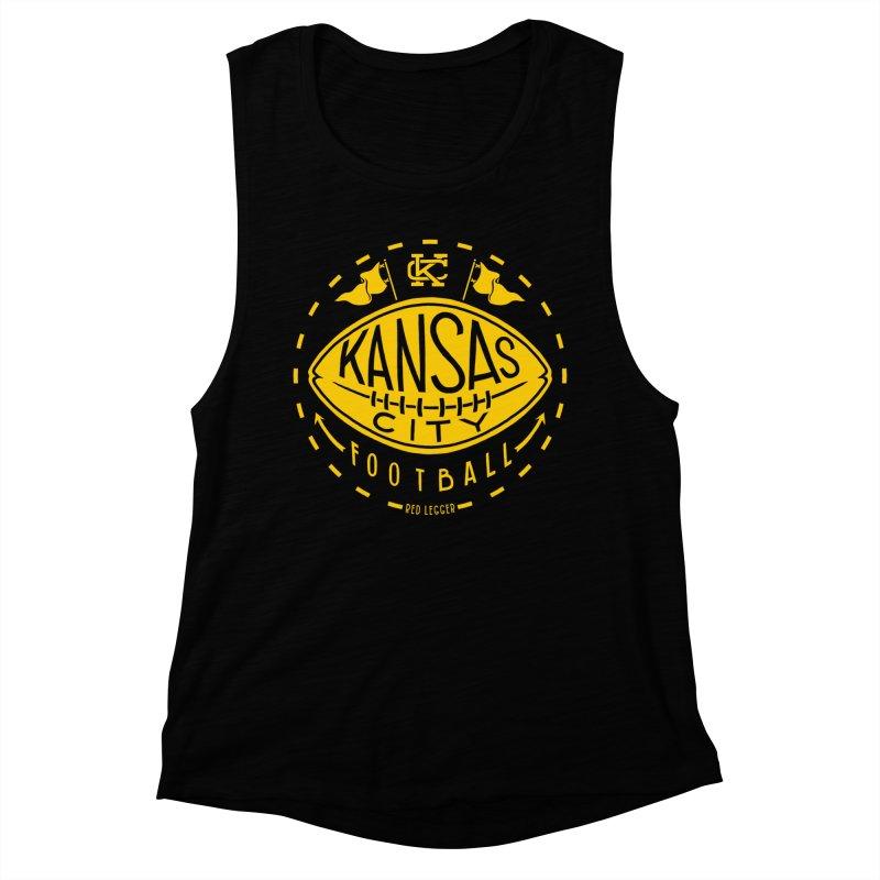 KC Football (Yellow) Women's Muscle Tank by redleggerstudio's Shop