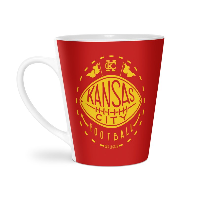 KC Football (Yellow) Accessories Latte Mug by redleggerstudio's Shop