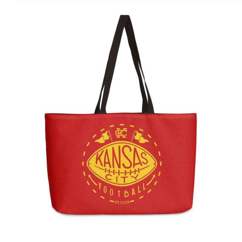 KC Football (Yellow) Accessories Weekender Bag Bag by redleggerstudio's Shop