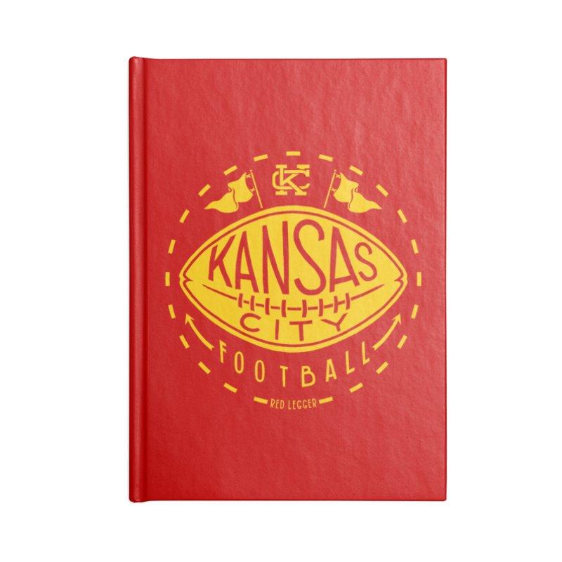 KC Football (Yellow) Accessories Blank Journal Notebook by redleggerstudio's Shop