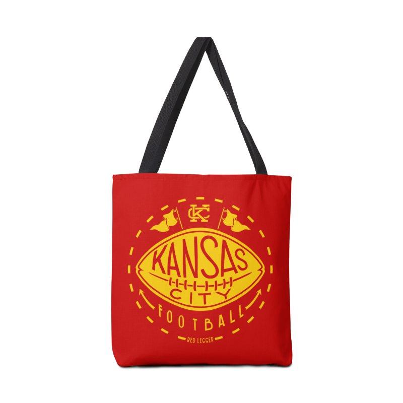 KC Football (Yellow) Accessories Tote Bag Bag by redleggerstudio's Shop