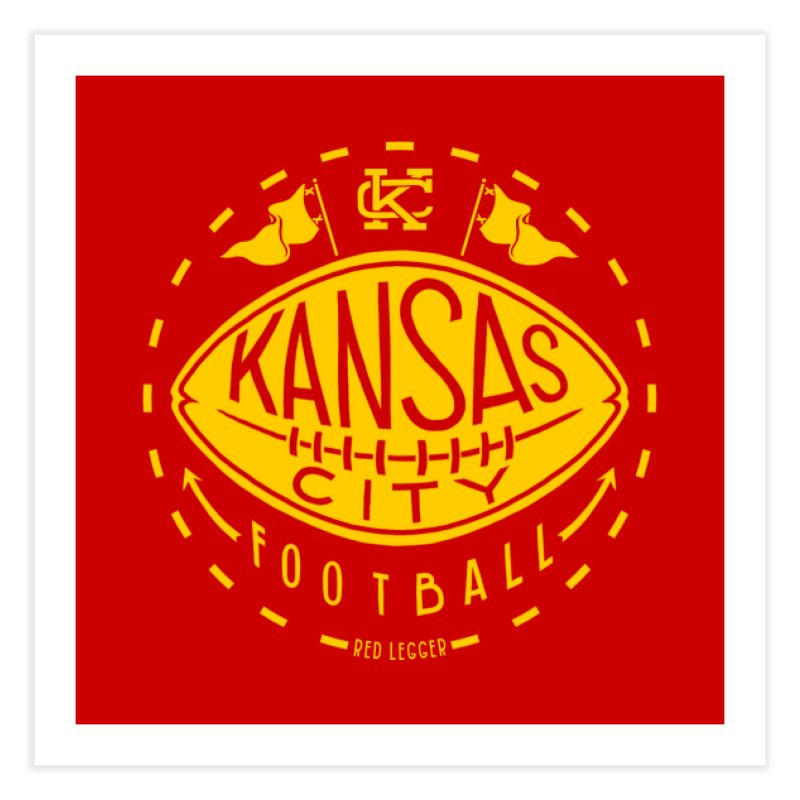 KC Football (Yellow) Home Fine Art Print by redleggerstudio's Shop