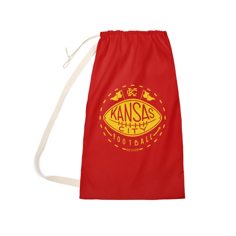 KC Football (Yellow) Accessories Laundry Bag Bag by redleggerstudio's Shop