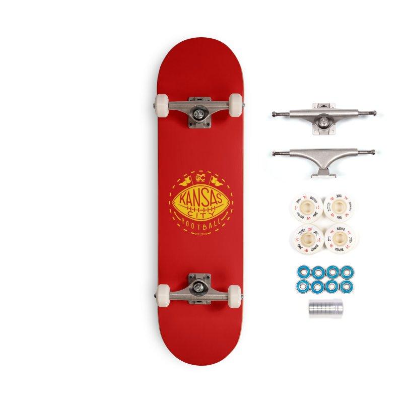 KC Football (Yellow) Accessories Complete - Premium Skateboard by redleggerstudio's Shop