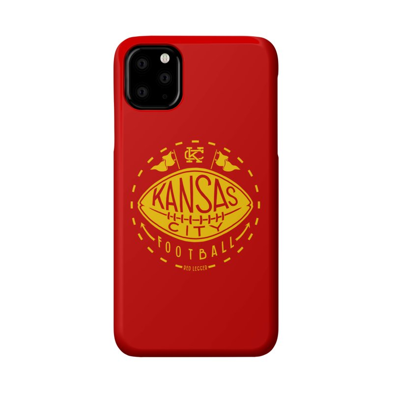 KC Football (Yellow) Accessories Phone Case by redleggerstudio's Shop