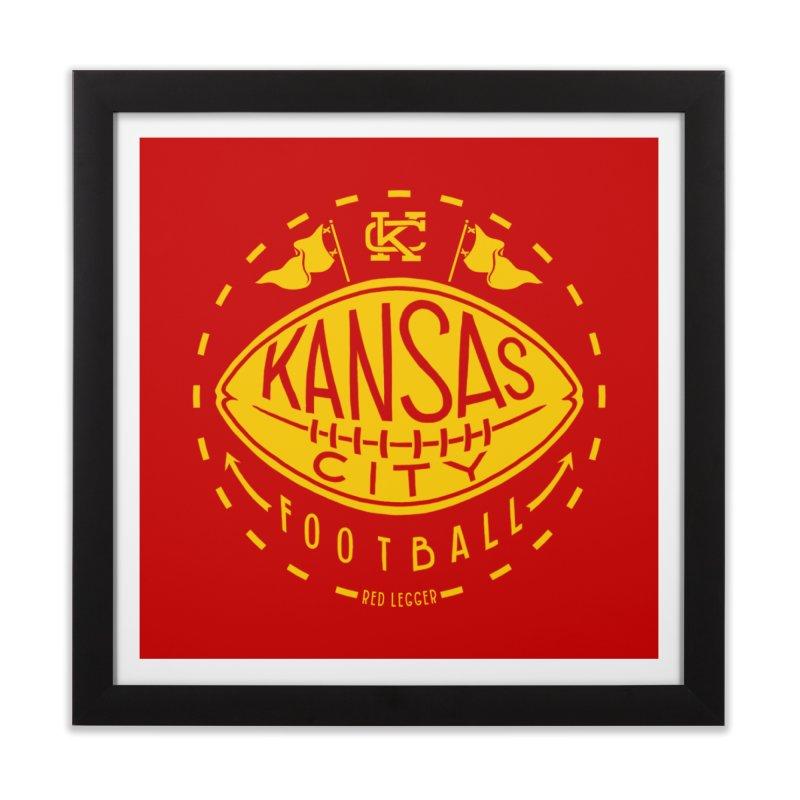 KC Football (Yellow) Home Framed Fine Art Print by redleggerstudio's Shop