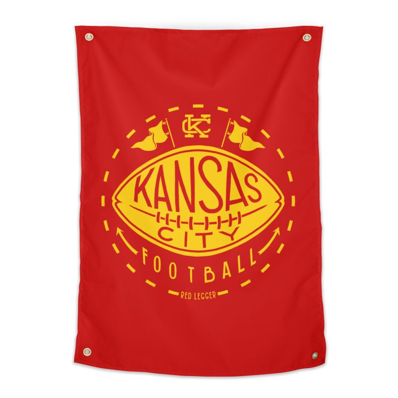 KC Football (Yellow) Home Tapestry by redleggerstudio's Shop