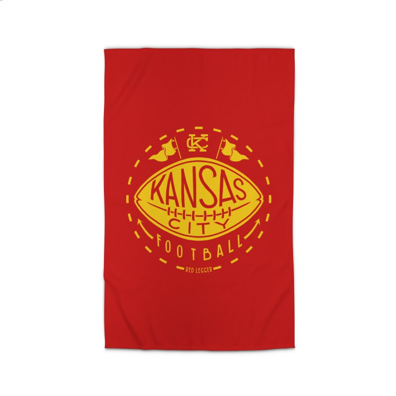 KC Football (Yellow) Home Rug by redleggerstudio's Shop