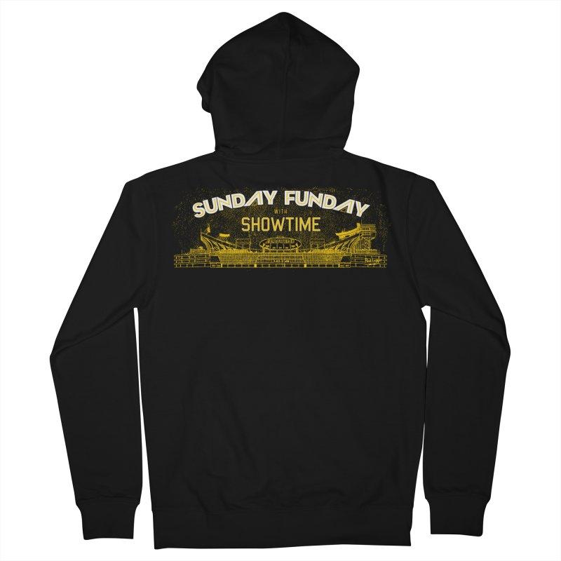 Sunday Funday Men's French Terry Zip-Up Hoody by redleggerstudio's Shop