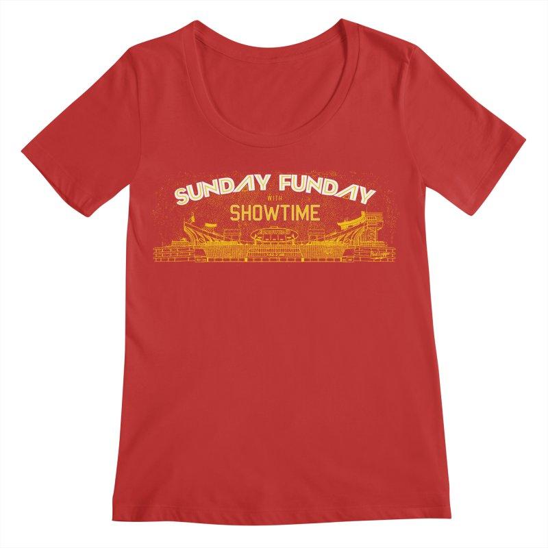 Sunday Funday Women's Regular Scoop Neck by redleggerstudio's Shop