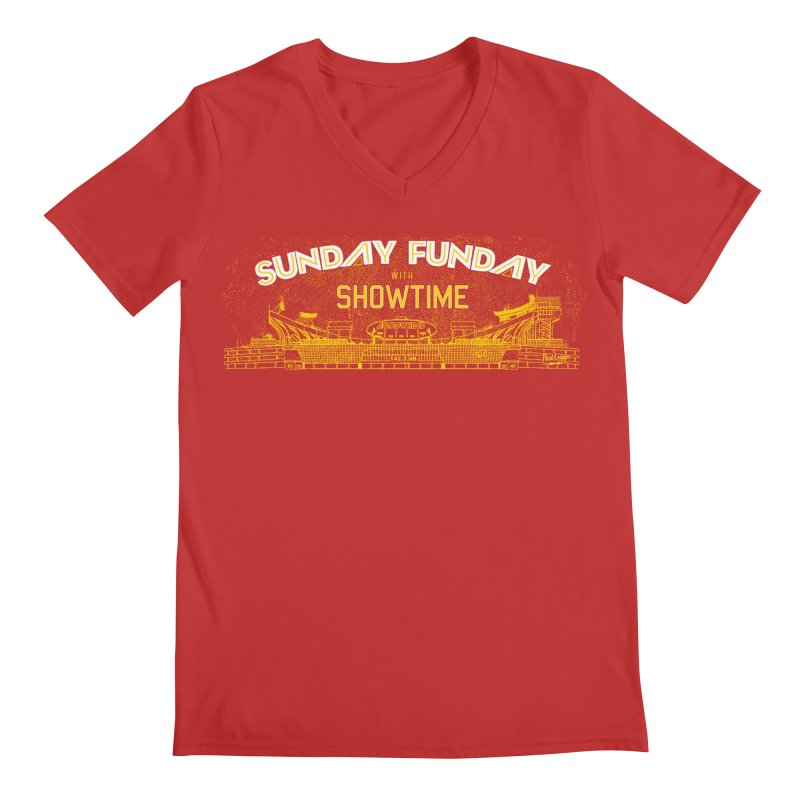 Sunday Funday Men's Regular V-Neck by redleggerstudio's Shop