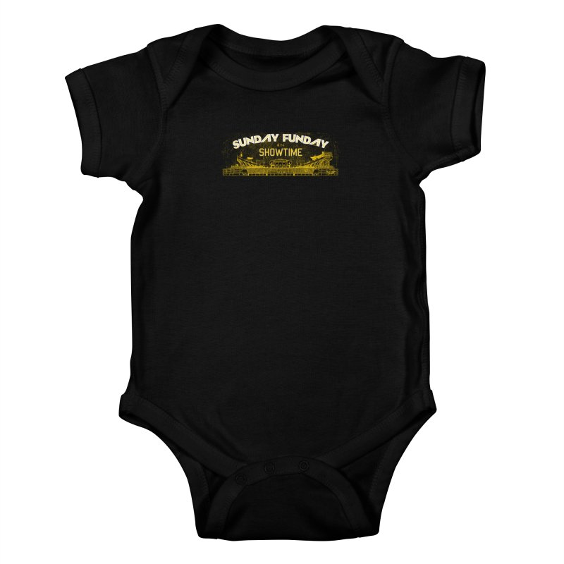 Sunday Funday Kids Baby Bodysuit by redleggerstudio's Shop