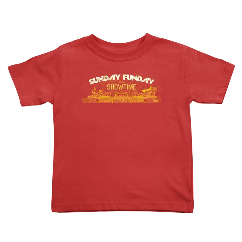 Sunday Funday Kids Toddler T-Shirt by redleggerstudio's Shop