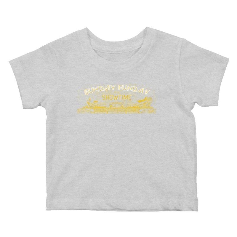 Sunday Funday Kids Baby T-Shirt by redleggerstudio's Shop