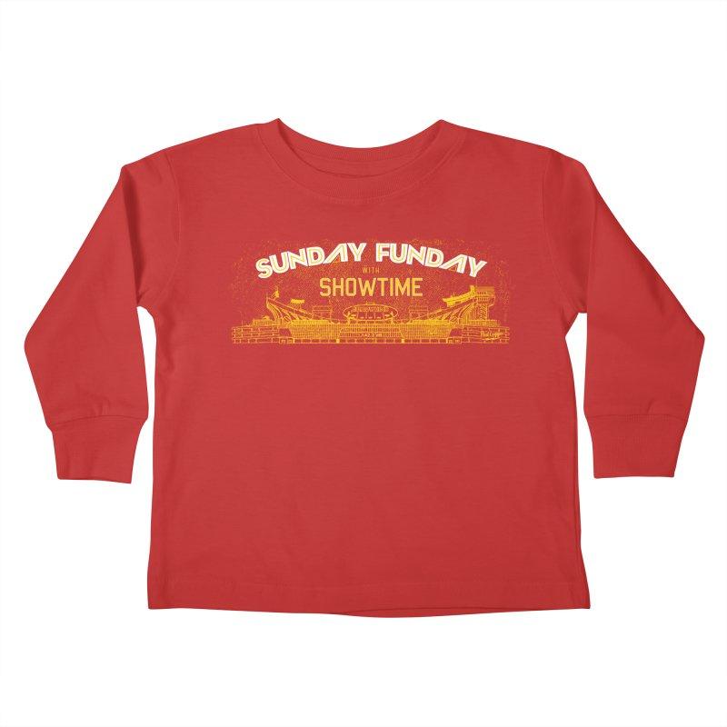 Sunday Funday Kids Toddler Longsleeve T-Shirt by redleggerstudio's Shop