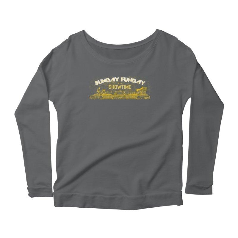 Sunday Funday Women's Scoop Neck Longsleeve T-Shirt by redleggerstudio's Shop
