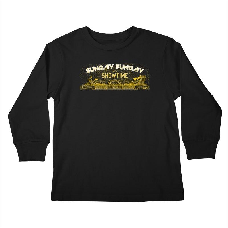 Sunday Funday Kids Longsleeve T-Shirt by redleggerstudio's Shop